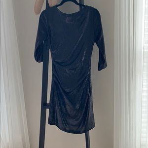 Parker black stretch sequin size small